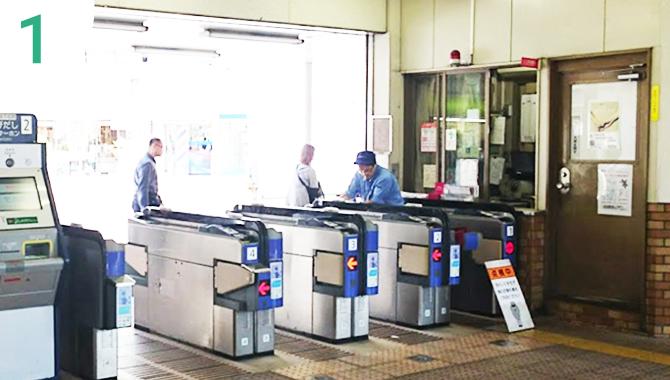 阪急今津線「門戸厄神駅」で降り、西口改札口から出ます。